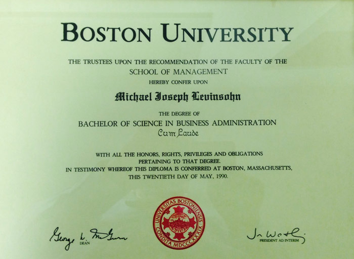 Boston University Website Design